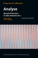 Analyse (Volume 1)  De Jacques Douchet - PPUR